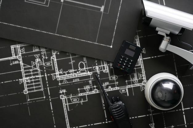 Caméra de sécurité en ligne cctv avec plan de maison