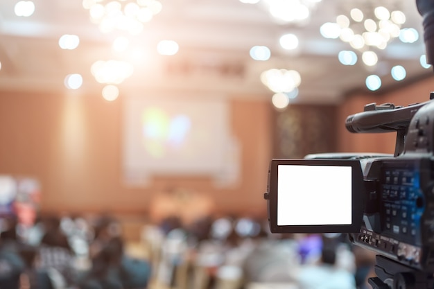 Caméra vdo dans la salle de conférence pour profession