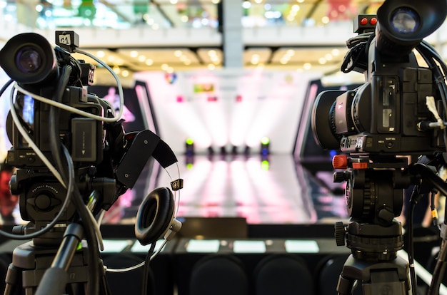 Caméra vidéo a le focus