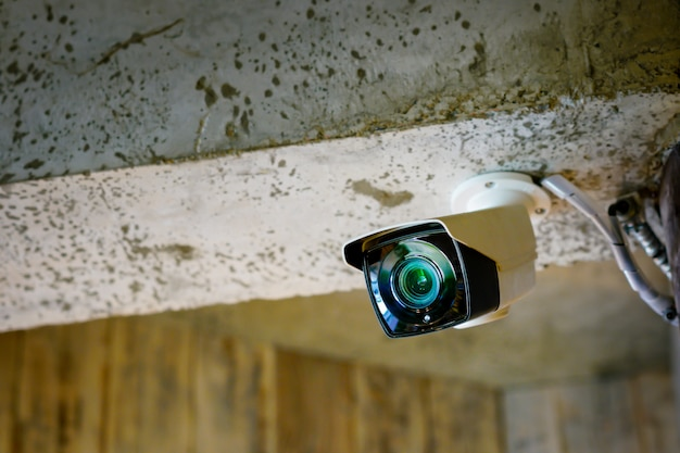 Caméra de vidéosurveillance dans le bureau et le restaurant