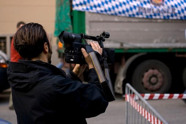 Caméraman en action