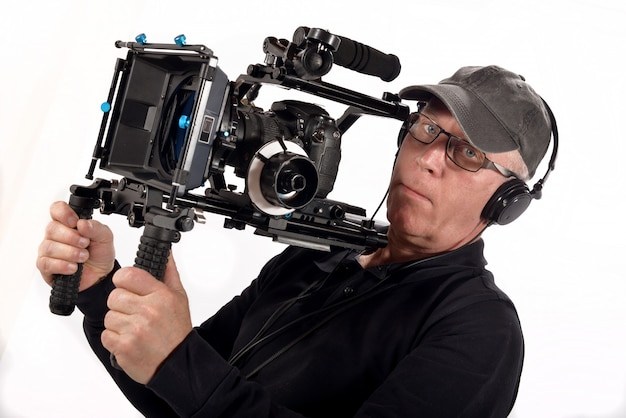 Caméraman avec caméra vidéo