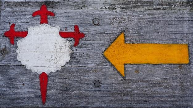 Camino santiago signe en galice combarro espagne