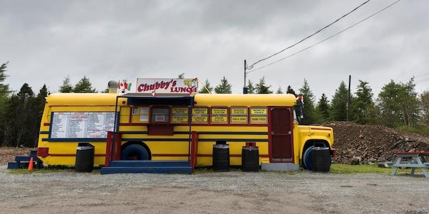 Camion alimentaire au bord de la route, st. peter's, île du cap-breton, nouvelle-écosse, canada