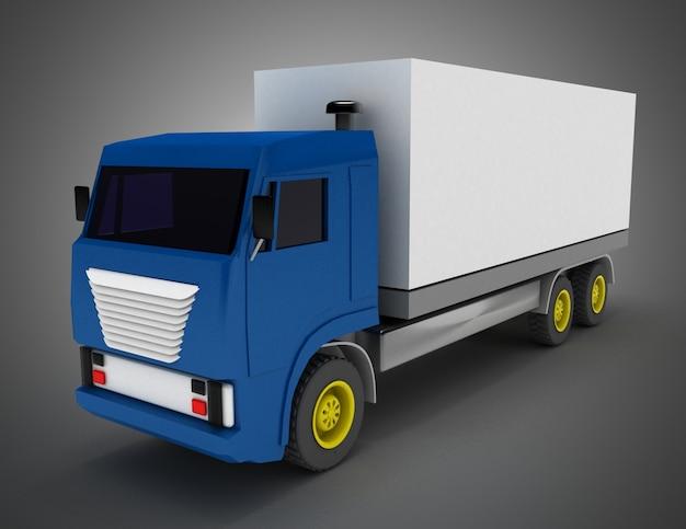 Camion avec conteneur. illustration 3d