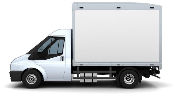Camion plateau, vue latérale