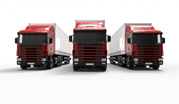 Camions rouges