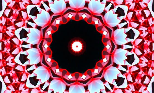 Camouflage star kaléidoscope texture tissu sans couture design motif moderne lumineux. décoration étoile colorée kaléidoscope symétrie texture. écharpe, vêtements, habillement, ethnique, conception d'impression textile