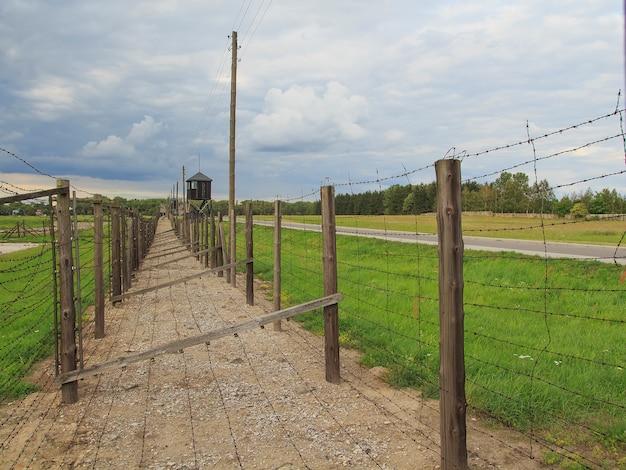 Camp de concentration de majdanek, lublin, pologne. camp de la mort