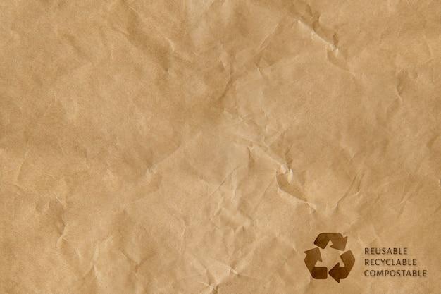 Campagne compostable recyclable réutilisable de fond de symbole de recyclage brun