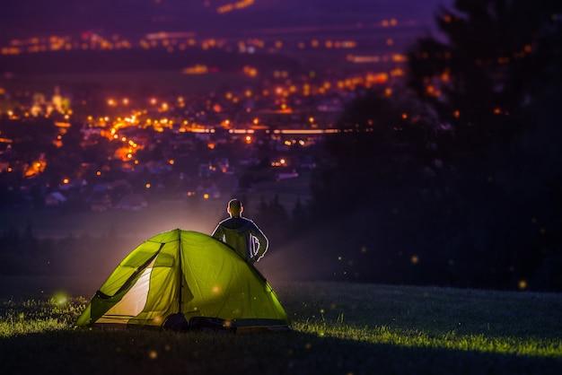 Camping à la campagne