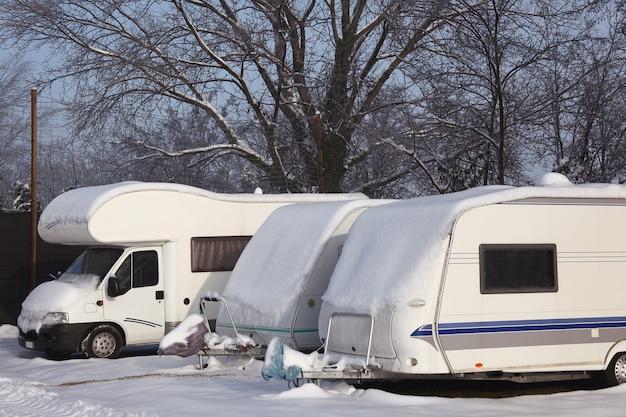 Camping-car en hiver