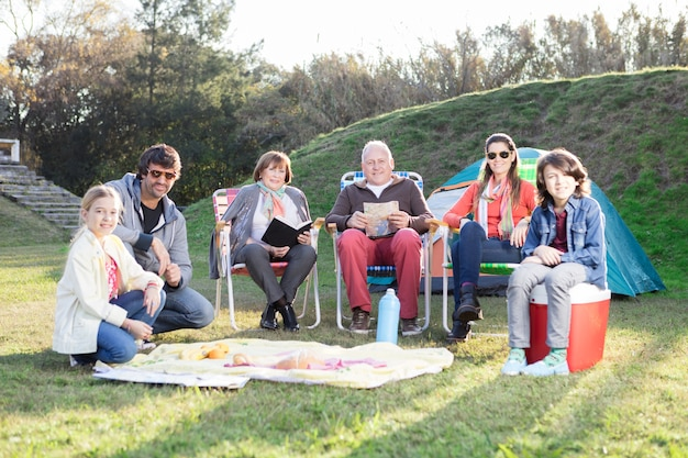 Camping familial jouissant