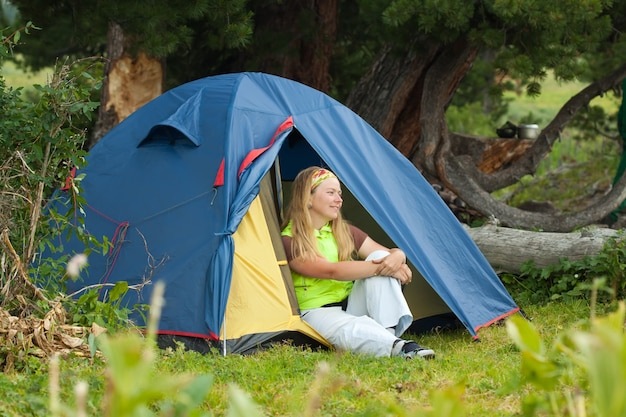 Camping femme