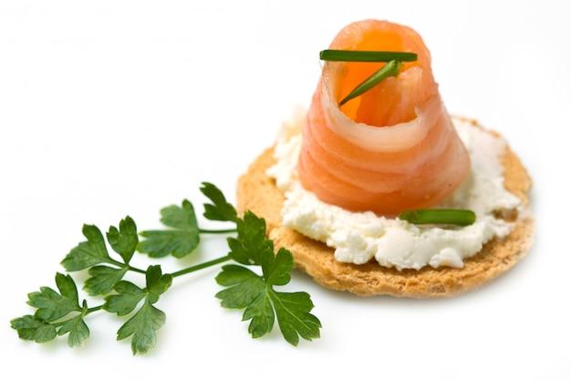 Canape au saumon