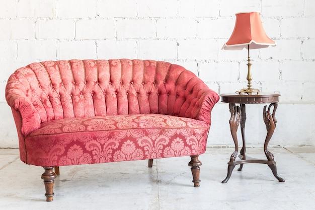 Canapé canapé rouge