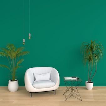Canapé dans le salon vert