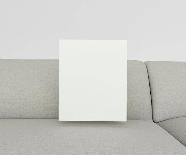 Canapé intérieur minimaliste de gros plan avec cadre