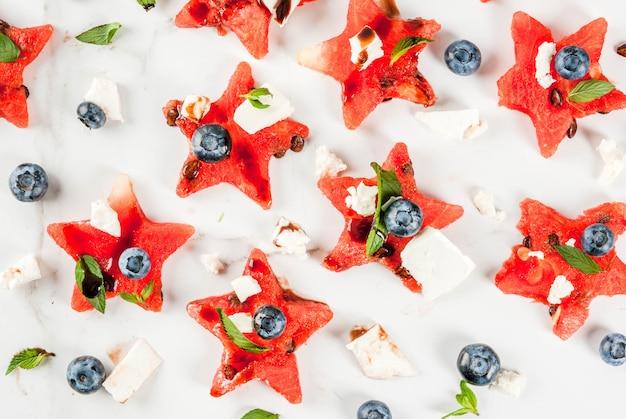 Canape rafraîchissante à la salade de fruits