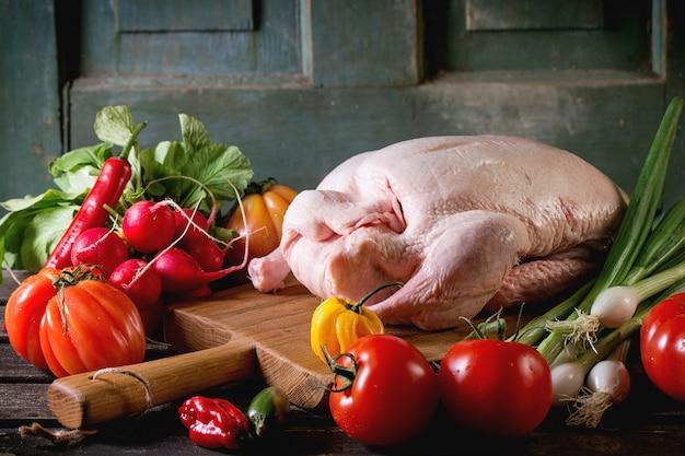 Canard cru aux légumes