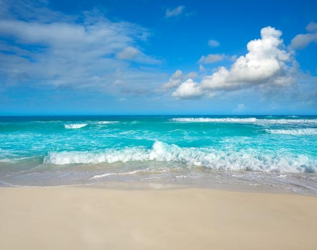 Cancun delfines beach à la zone hôtelière du mexique