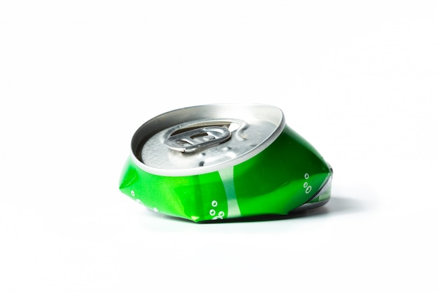 Canette d'aluminium froissé