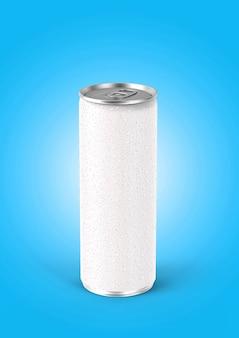 Canette de soda blanche de rendu 3d 330ml
