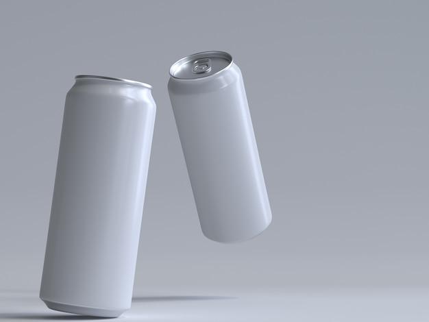 Canette de soda à rendu 3d sans étiquette
