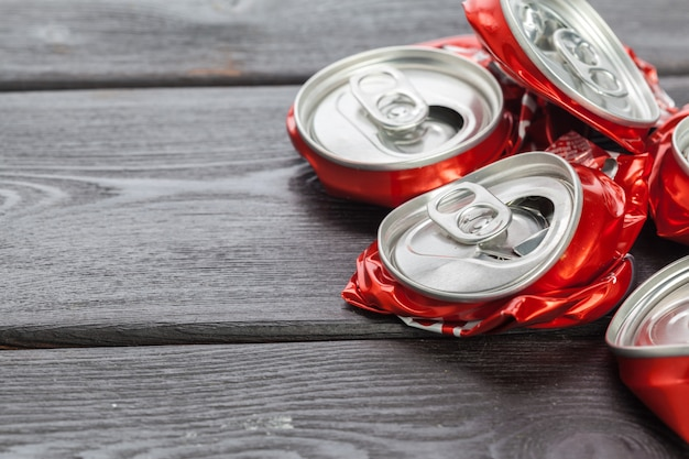 Canettes en aluminium. recyclage.