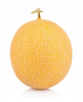 Cantaloup melon isolé sur fond blanc