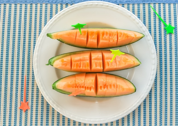 Cantaloupe fruit frais