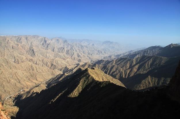 Le canyon d'arabie saoudite