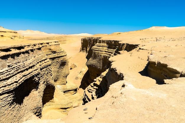 Canyon de los perdidos, canyon of the lost ou canyon del zapa près d'ica au pérou