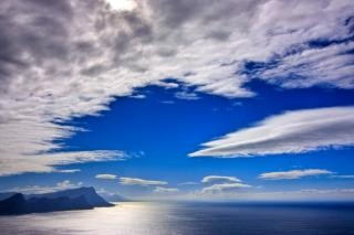 Cape point paysage hdr nuage