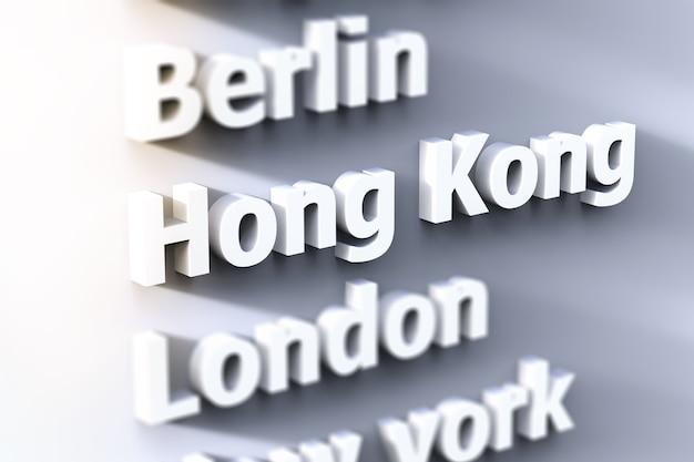 La capitale asiatique se concentre sur hong kong avec un fond gris