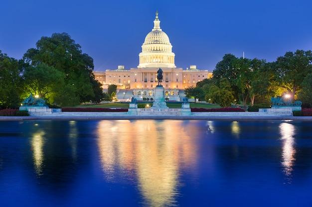 Capitole coucher de soleil au congrès de washington dc