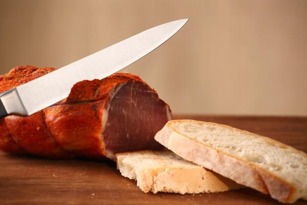 Capocollo italien avec du pain