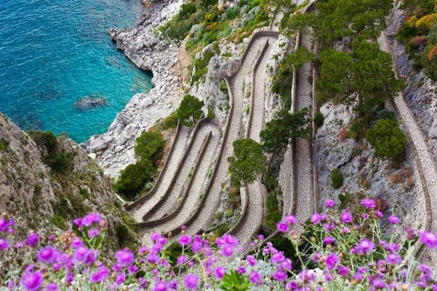 Capri, via krupp, italie.