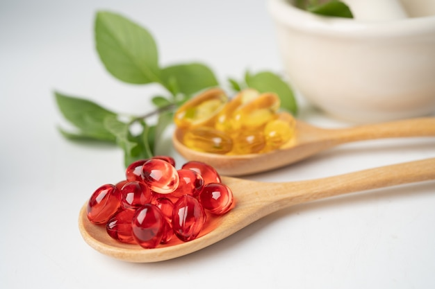 Capsule biologique à base de plantes de médecine alternative.