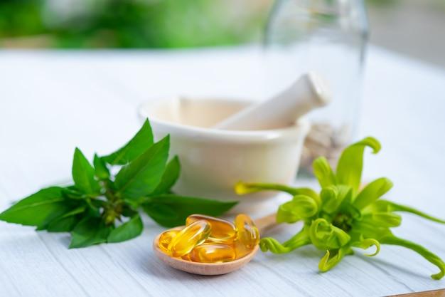 Capsule organique à base de plantes de médecine alternative