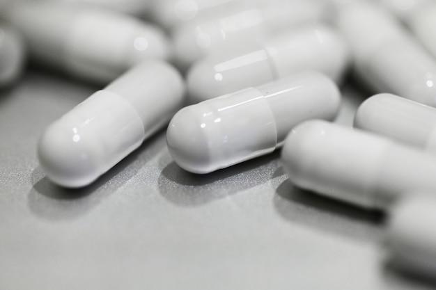 Capsules capsules grises se bouchent
