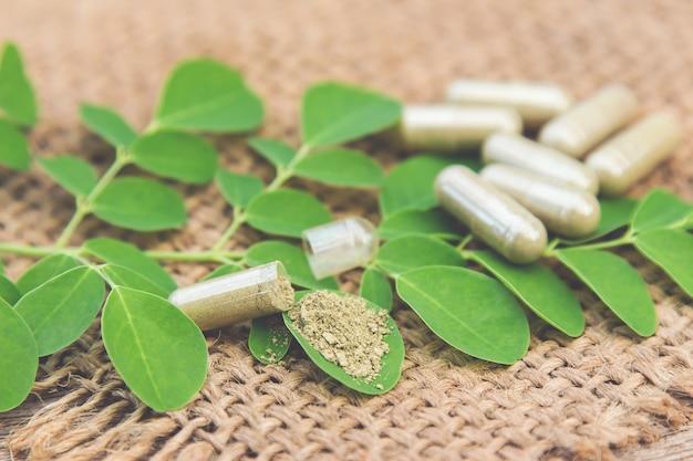 Capsules de poudre à base de plantes pour une alimentation saine