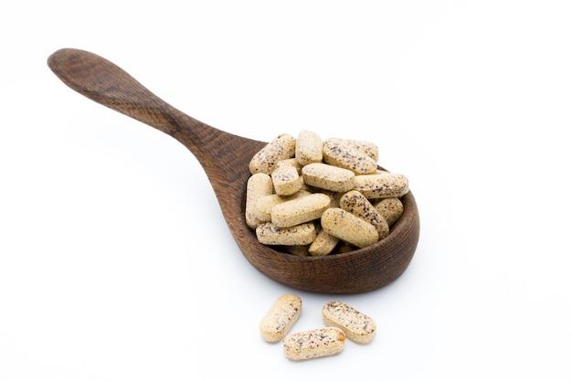 Capsules de vitamines de médecine alternative