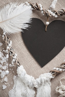 Capteur de rêves en forme de coeur