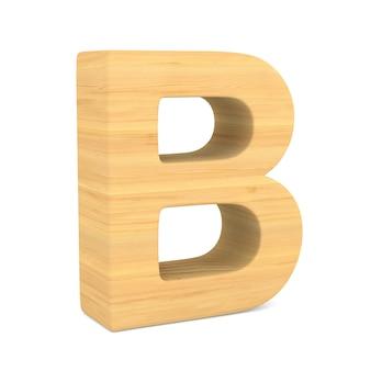 Caractère b sur un espace blanc. illustration 3d isolée
