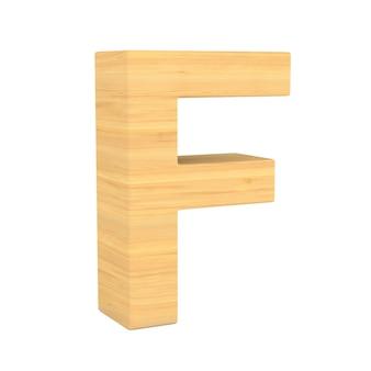 Caractère f sur un espace blanc. illustration 3d isolée