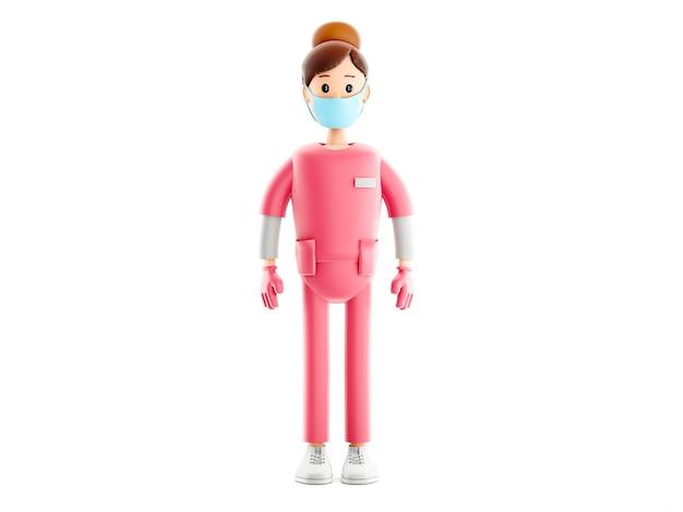 Caractère de fille d'infirmière, docteur de bande dessinée