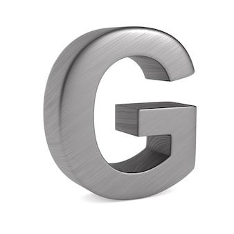 Caractère g sur un espace blanc. illustration 3d isolée