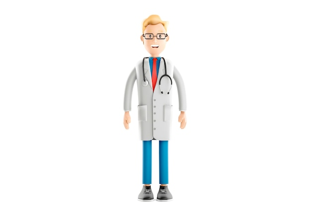 Caractère de gars d'infirmière, docteur de bande dessinée