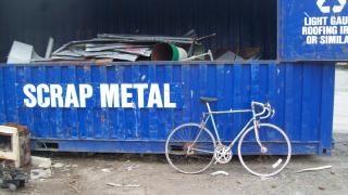 Cariées morrison vélo bleu à dix vitesses, alliage
